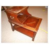Vintage Wood Tiered Side Table