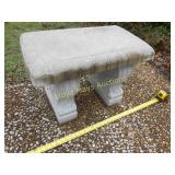 Concrete Patio Garden Bench