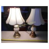 Pair of Brass & Ceramic Table Lamps