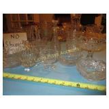 10pc Vintage Glass Service & Decor