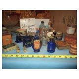 Antique Medicine Bottles / Tins / Atomizer