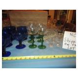 Vintage Glass Stem Ware Sets