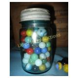 Vintage Glass & Agate Marble Mason Jar Collection