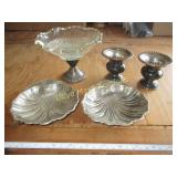 Sterling Silver Candle Sticks / Compote / Trays