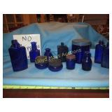 Antique Cobalt Blue Glass Bottle Collection