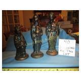 Three Wise Men Hand Painted Ceramic Figure Set