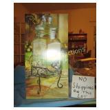 Del Sol Glass Beverage Dispenser w/ Stand