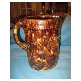 Antique Drip Glaze Clay Ware Water Pitcher