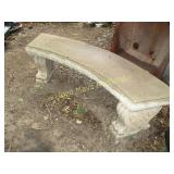 Solid Concrete Large Curved Patio Garden Bench