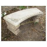 Solid Concrete Curved Patio Garden Bench
