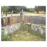 Garden Trellis & Cast Iron Bed Yard Art - Trellis