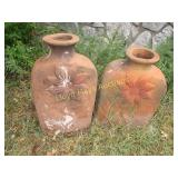 Pair of Large Terra Cotta Garden Vase Pots