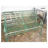 Antique Wrought Iron Park / Bus Bench