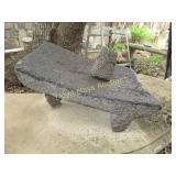 Volcanic Stone Metate & Pestle - Grinding Stone