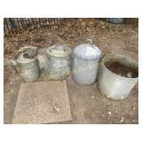 Vintage Galvanized Water Can / Bucket / Feeder Top