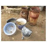 Granite Ware / Milk Cans / Yard Art - 6pc