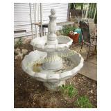 Composite Bird Bath Water Fountain