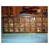 Vintage Wood Wall Miniatures Display