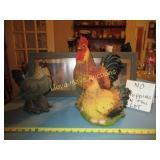 4pc Chicken & Rooster Decor - Figures & Prints