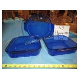 3pc Blue Oven Glass Bake Ware