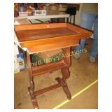Vintage Wood Valet Side Table
