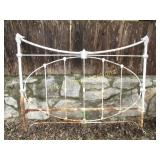 Antique Wrought Iron Single Bed Head Board