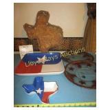 5pc Texas Serving Trays - Ceramic / Glass / Wicker