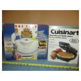 George Foreman Roaster & Cuisanart Waffle Maker