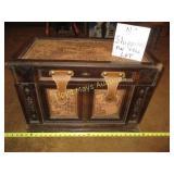 Wood & Leather Storage Trunk