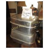 2pc Vintage Aluminum Large Roasters
