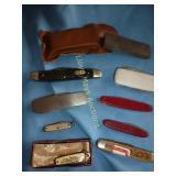Vintage Folding Knives & Sharpening Stones