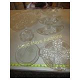 Vintage Glass Serving Trays & Bowls