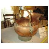 Copper & Brass Coal Scuttle