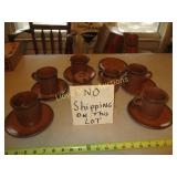 Vintage McCoy Pottery Drip Glaze Coffee Set