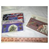 2pc Vintage US Coin Collector Sets