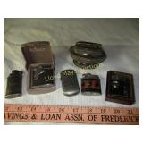 6pc Vintage Lighters - Ronson / Advertising