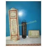 3pc Vintage Thermometers - Advertising / Barometer
