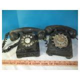 2pc Vintage Rotary Desk Phones