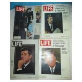 4pc Vintage LIFE Magazine - Kennedy