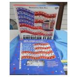 2pc 120 Light American Flag Wall Decor