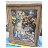 Large Barn Wood Frame Fox Print