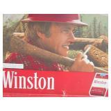 Vintage Winston Metal Lumberjack Cigarette Sign