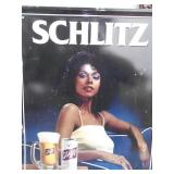 Vintage Original Metal Schlitz Beer Sign