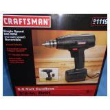"Craftsman 3/8"" 6 Volt Cordless Drill NIB"
