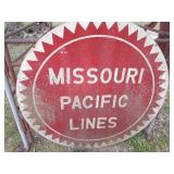 Missouri Pacific Lines Vintage Railroad Sign