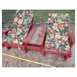 Cedar Double Seater Patio Lounger