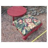2pc Cedar Patio Table & Cedar Ottoman