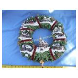 Thomas Kincade Christmas Village Wreath