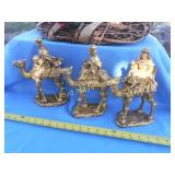 Vintage Heavy Ceramic Golden Three Wise Men