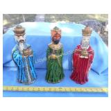Set of 3 Hand Painted Vintage Wise Men